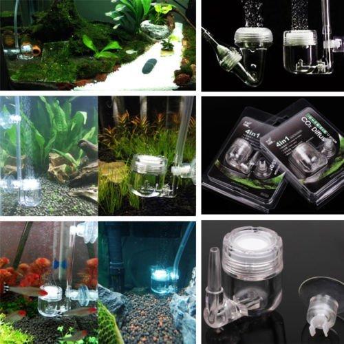 Accessori per acquario Diffusore CO2 Yosoo 4 in 1