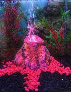 Vulcano in eruzione  decorazione per acquario