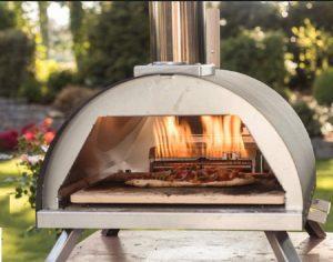 forno, pizza, giardino